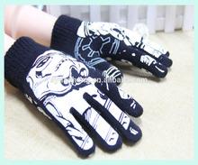 knitted glove custom winter gloves logo