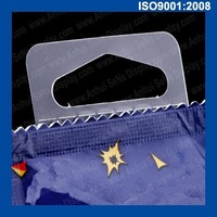 packing display plastic self adhesive hang tab