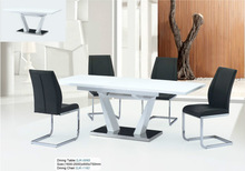 Extending Contemporary Dining Table with High Gloss