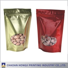 Guangdong customized stand up pouch with zipper for packaging