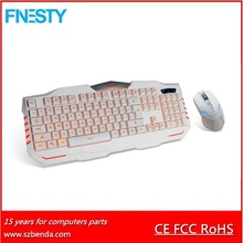 2015 newest gaming keyboard and mouse combo with led backlight