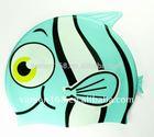 Fish Design Funny Cartoon Kids Swimming Cap