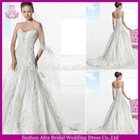 SD977 Tulle and lace fishtail wedding dress patterns punjab wedding bridal dresses in karachi