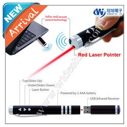 iR100 USB Remote laser pointer presenter pen , laser presenter high power laser