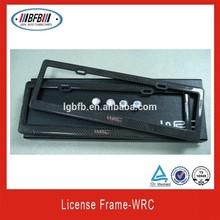 auto parts license frame carbon fiber for WRC license frame