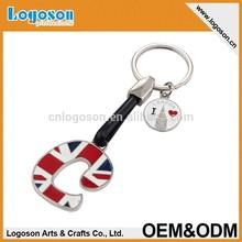 Factory specializing made custom alphabet keychain