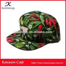 hawaii pattern fabric inside linning promotion cap custom 3D embroidery logo 6 panels snapback cap hat