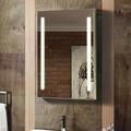 جديد الأناقة عموديا led مضاءة مرآة الحمام وول ديكور