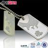 Superior quality custom diecasting crystals cross dog tag