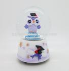 The purple owl designs led light christmas snow globe for sale home decoration