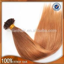 Keratin fusion tip 100% remy human hair extension/u-tip hair extension/nano tip hair extensions