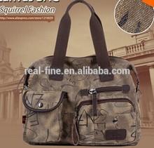 realfine bags letter doodle canvas women shoulder bag high quality pattern brand casual tote vintage vogue versatile handbag