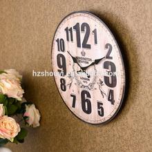 Square / Round Floral Print Pensile MDF Clock