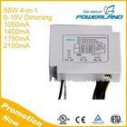 90-305V Input 1050mA 1400mA 1750mA 2100mA 4-in-1 50W 0-10V Dimmable 24V 28V DC Switching Power Supply