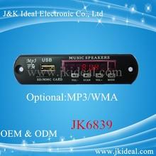 JK6839 mp3 usb sd mp3 module with fm radio pl ayer board