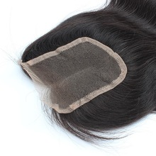 quick opening brazilian remy hair top closure, supply silk lace closure 6X6