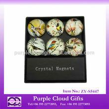 Custom glass fridge magnet , souvenir fridge magnet, glass magnet