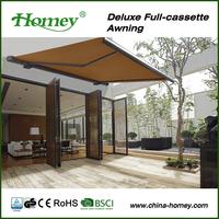 jinhua manufacturer 2014 waterproof motorized retractable balcony awnings