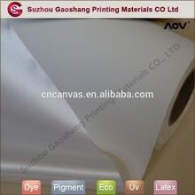 Inkjet blank canvas paper for advertising silk satin canvas