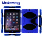 Luxury PC+Silicone Defender Case Cover With Simple Braces for iPad Air