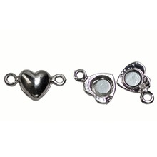 Heart shape jewelry finding magnetic clasps for jewelry making