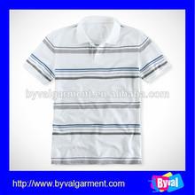 custom fashion stripe white & black polo shirt high quality pique dry fit stripe polo shirt made in china
