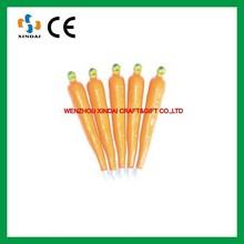 Carrot ball pen with magnet,vegetable pen,advertising ball pen