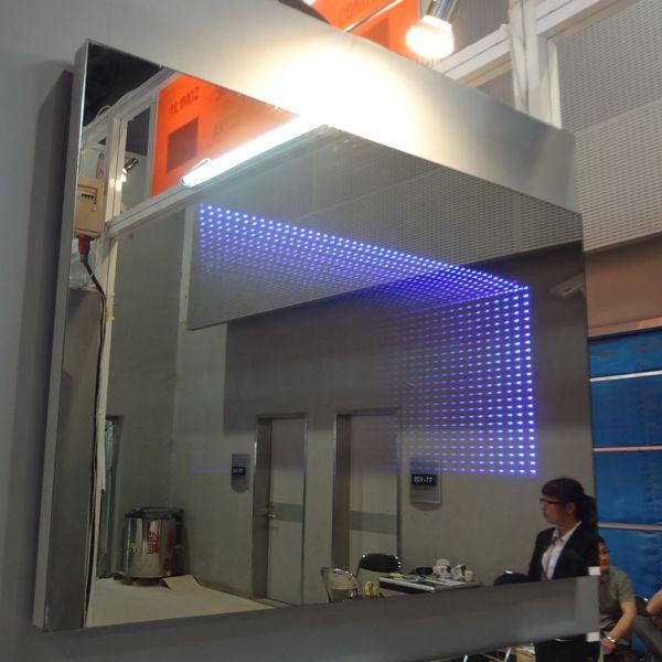 Beaut salon de coiffure 3d led infinity miroir avec for Miroir magique production