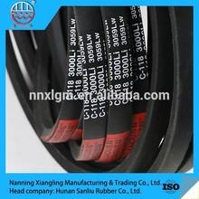 China rubber belt supplier manurfacturering high quality wrapped v-belt