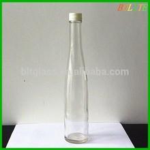 375ml Long Neck Glass Juice Bottle with Plastic Screw Lid