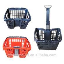 hot selling excellent quality plastic supermarket basket mould