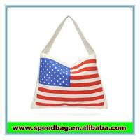 2015 women big size nation US flag canvas shoulder bag large capacity Europe and America style print flag handbag FW16178