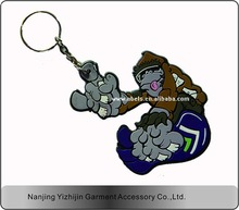 Factory direct sales All kinds of animal soft pvc key chain