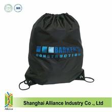 Custom durable nylon drawstring backpack Durable Gym Cinch Sack