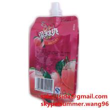 spout top plastic peach juice bag