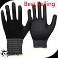 srsafty 15 calibre guantes de nylon con buena recubierto de nitrilo en la palma