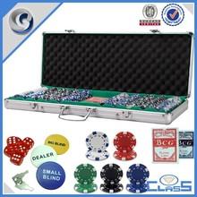 Professional Casino Special Purpose cases gambling box aluminum case for rectangular poker chips