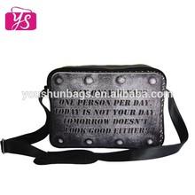 Trendy men leather shoulder bag pu bag