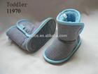 Children Toddler Boys Girls Tall Winter Warm Plush Flat Velcro Closure Slipper Boots