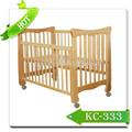 la moda de lujo muebles de bebé moderna cuna de madera de diseño