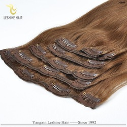 Alibaba Best Seller 120g Indian Remy clip hair extensions double weft