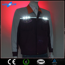 hi vis long sleeve LED flashing reflective safety work clothes