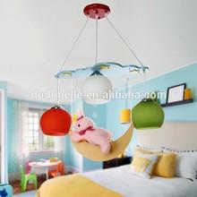 2015 Hot sale wholesale colorful Levitation lovely moon glass children chandeliers light pendant lights