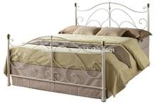 Hot design metal bedroom furniture cream double bed DB-4742