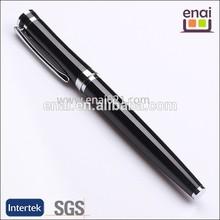 novelty and fashion business use black logo erosion metal advertising roller pen