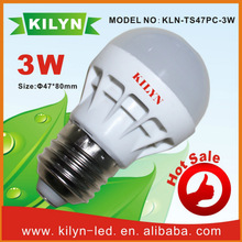 Saving electricity cost 3W good quality with 3 years warranty light bulbs double filament