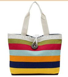 Trending hot 2015 Stylish printing designer canvas tote bag