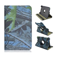 Deep Sea Color Branch Folio Stand Tablet Case for Samsung Galaxy Tab 3 Lite 7 Inch T110/T111, Rotate PU Leather Cover Wholesale