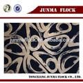 Noir et or rotation motif chine Textile africaine floqué coton tissu cire Batik tissu peluche