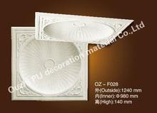 PU material plastic plain ancient dome medallions